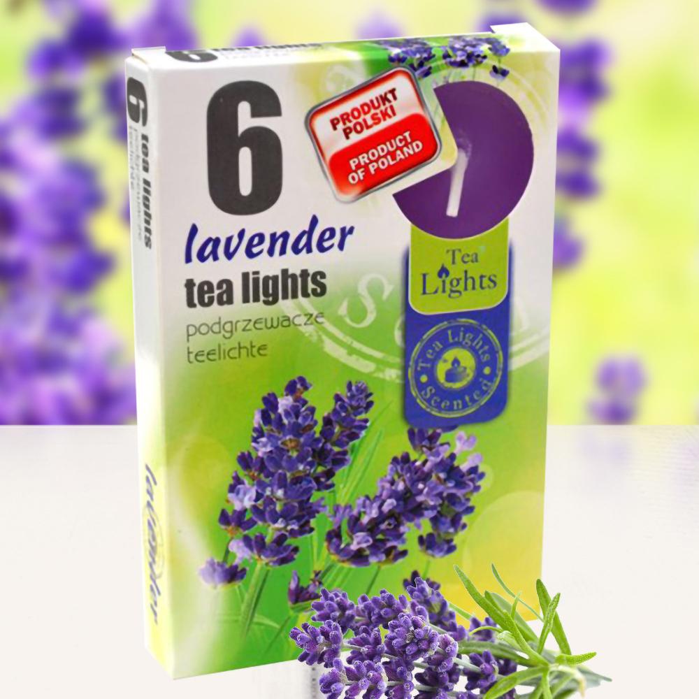 Hộp 6 nến thơm tinh dầu Tealight QT026082 hoa oải hương 1