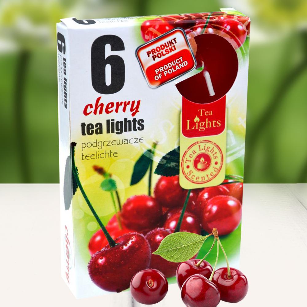 Hộp 6 nến thơm tinh dầu Tealight QT026087 quả anh đào 1