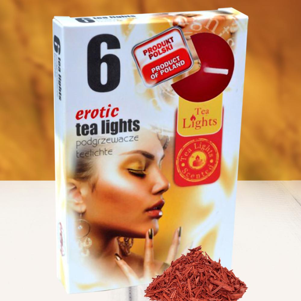 Hộp 6 nến thơm tinh dầu Tealight QT026103 gỗ đàn hương 1