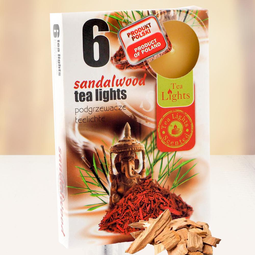 Hộp 6 nến thơm tinh dầu Tealight QT026842 gỗ đàn hương 1