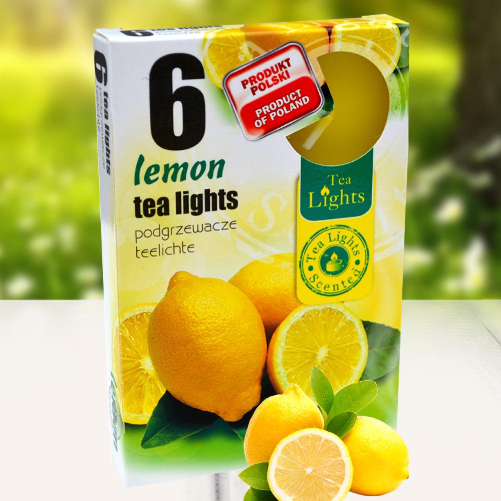 Hộp 6 nến thơm tinh dầu Tealight QT026081 hương chanh tươi 1