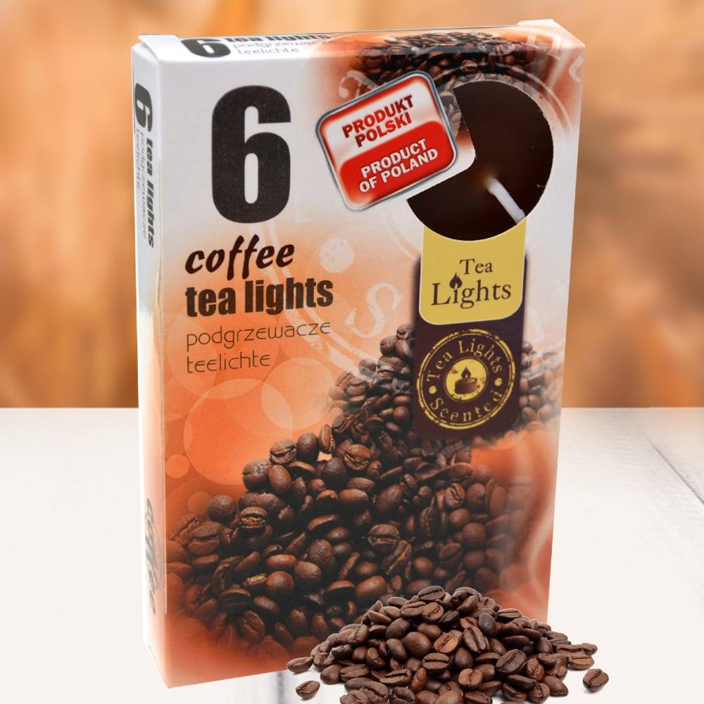 Hộp 6 nến thơm tinh dầu Tealight QT026107 hương cà phê 1