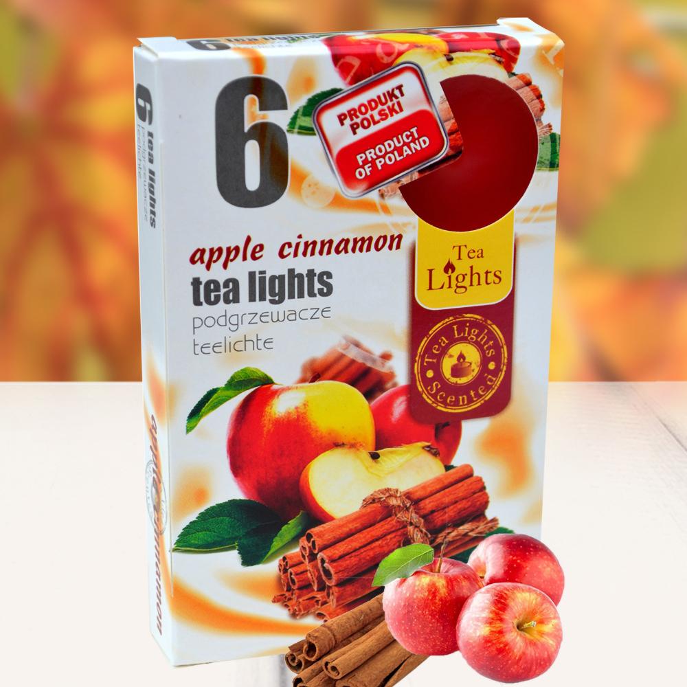 Hộp 6 nến thơm tinh dầu Tealight QT026121 hương táo, quế 1