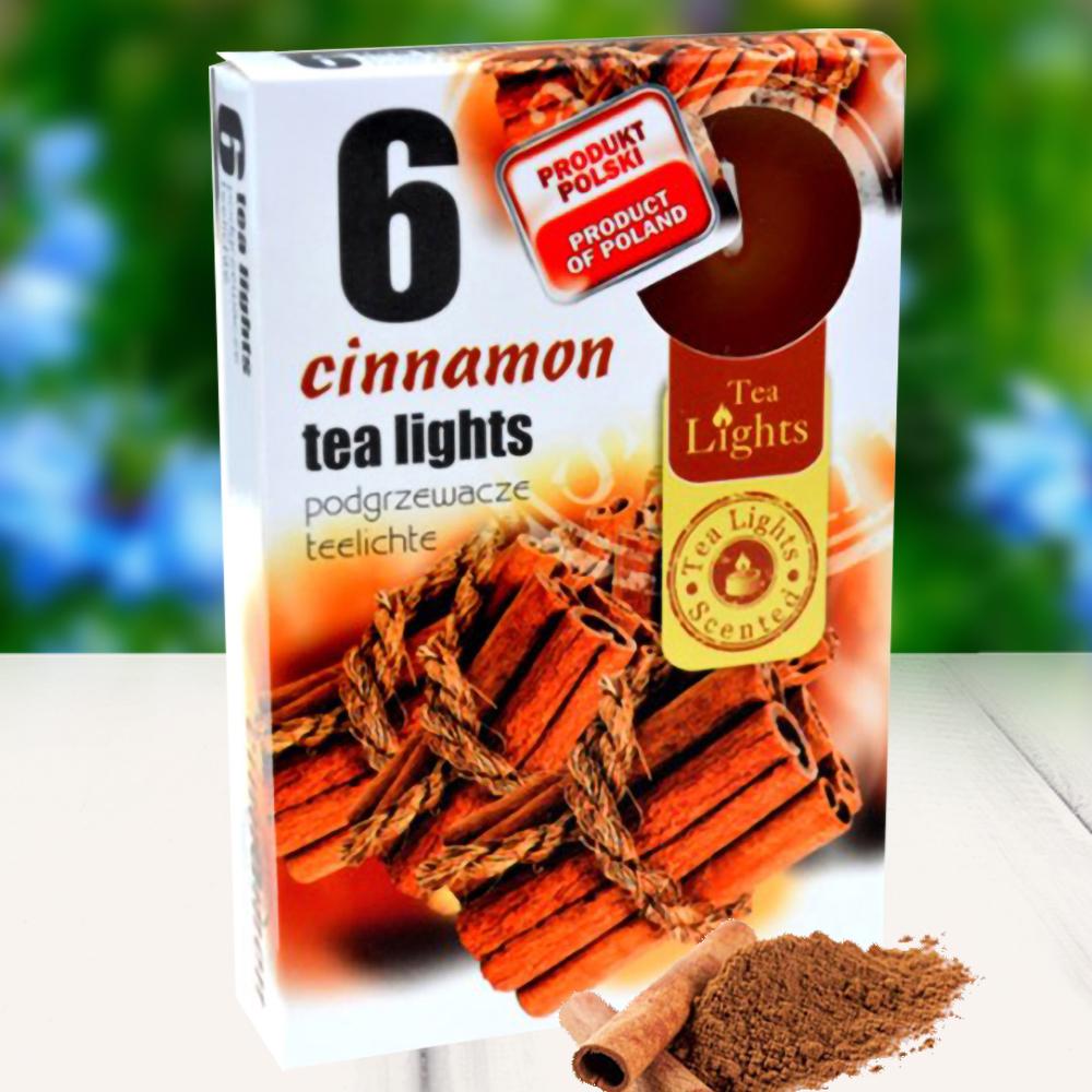 Hộp 6 nến thơm tinh dầu Tealight QT026109 hương quế 1