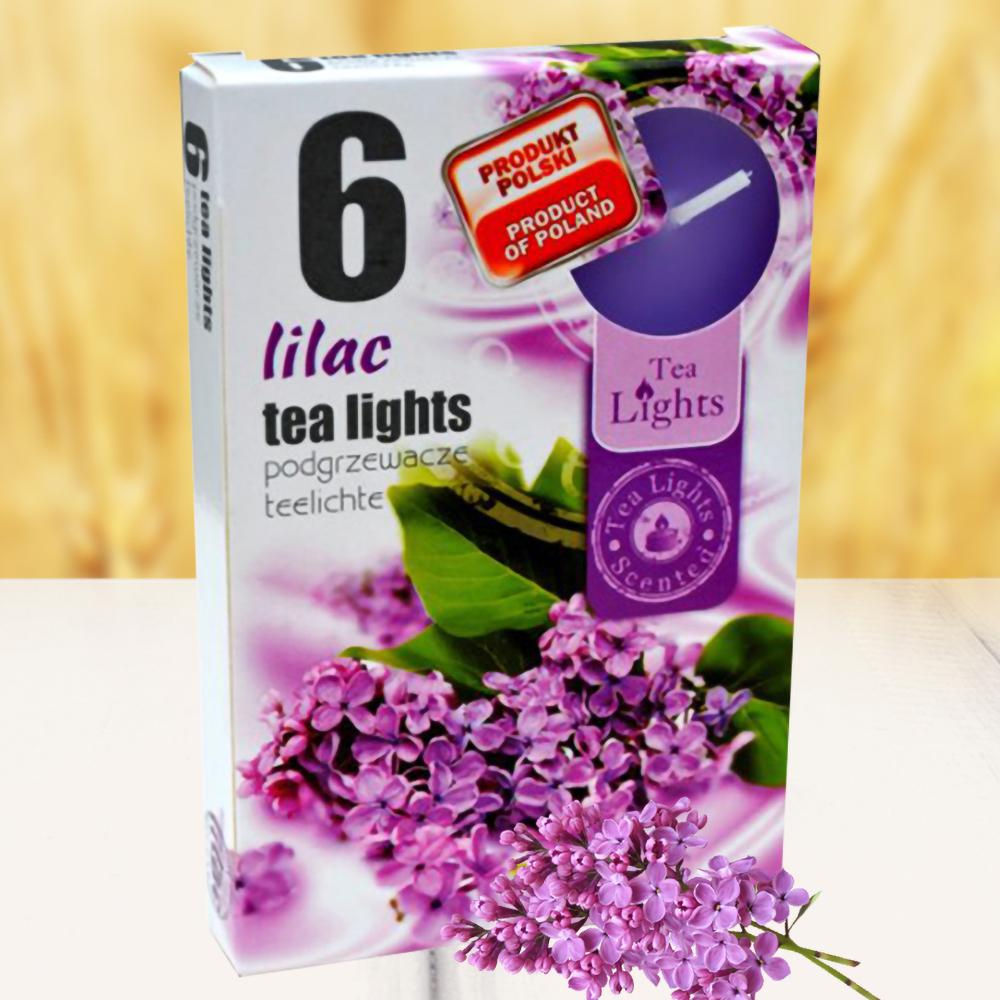 Hộp 6 nến thơm tinh dầu Tealight QT026079 hoa tử đinh hương 1