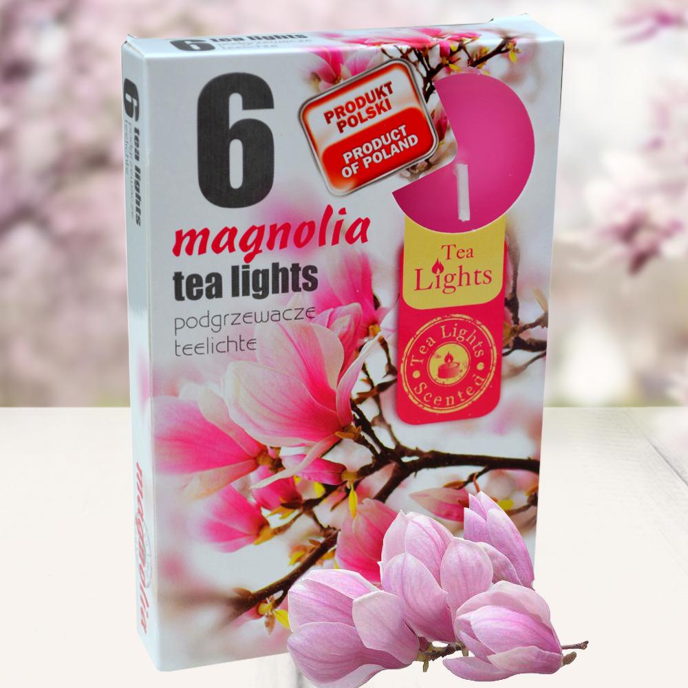 Hộp 6 nến thơm tinh dầu Tealight QT026077 hoa mộc lan 1