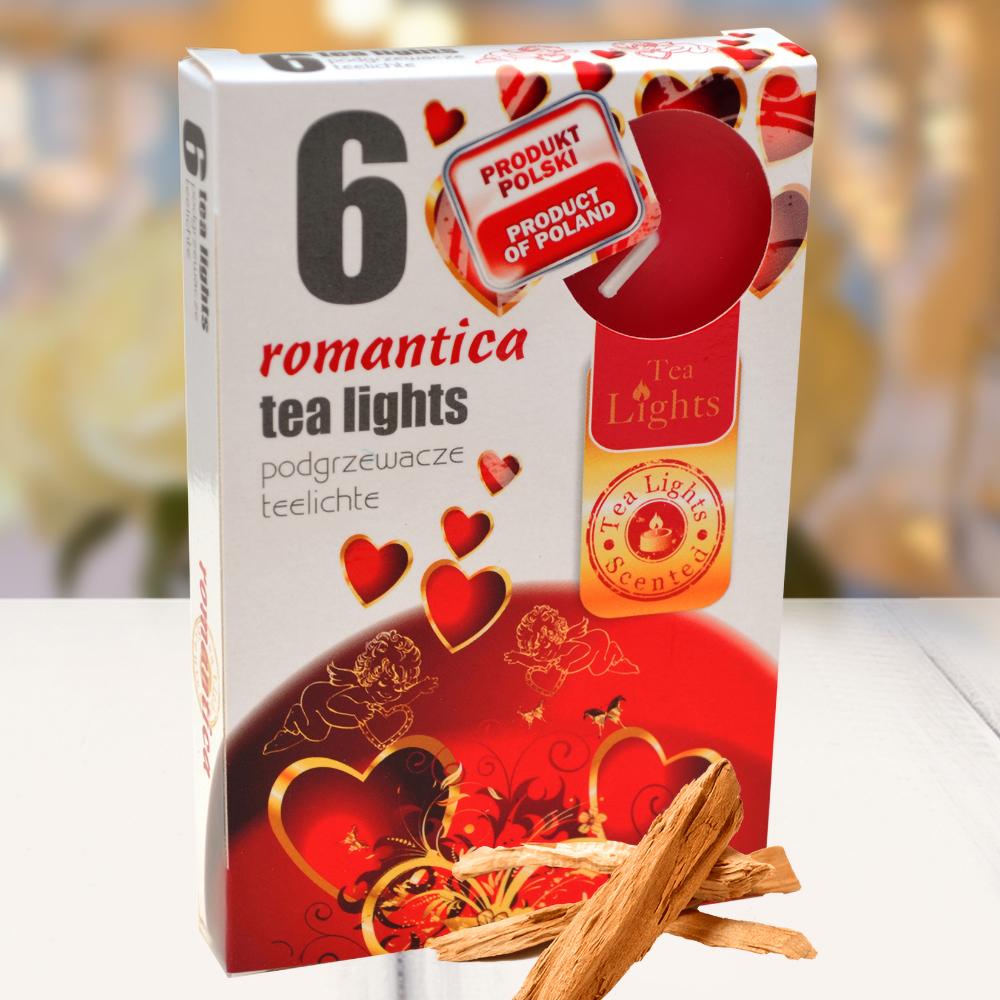Hộp 6 nến thơm tinh dầu Tealight QT026060 gỗ đàn hương 1