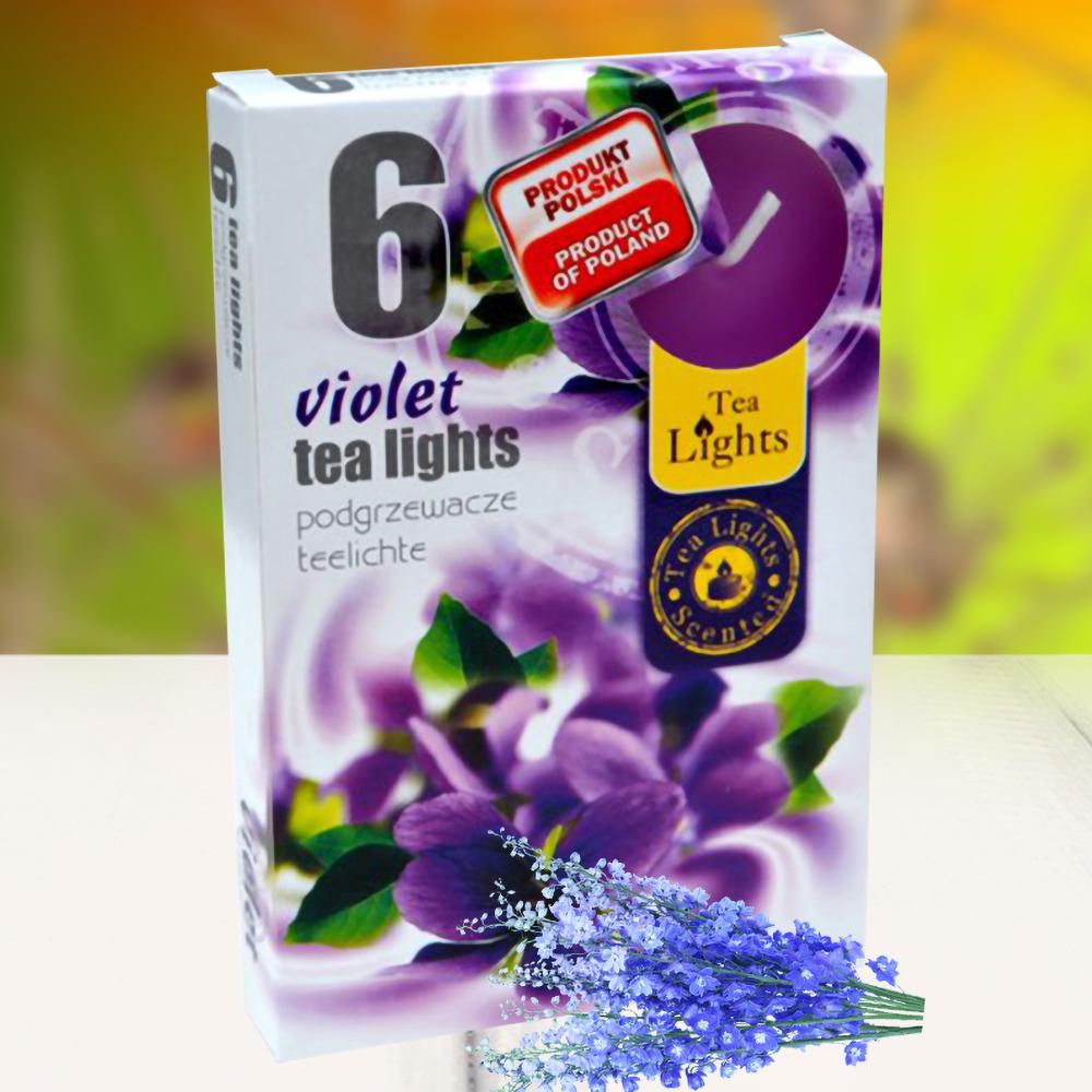Hộp 6 nến thơm tinh dầu Tealight QT026051 hoa phi yến 1