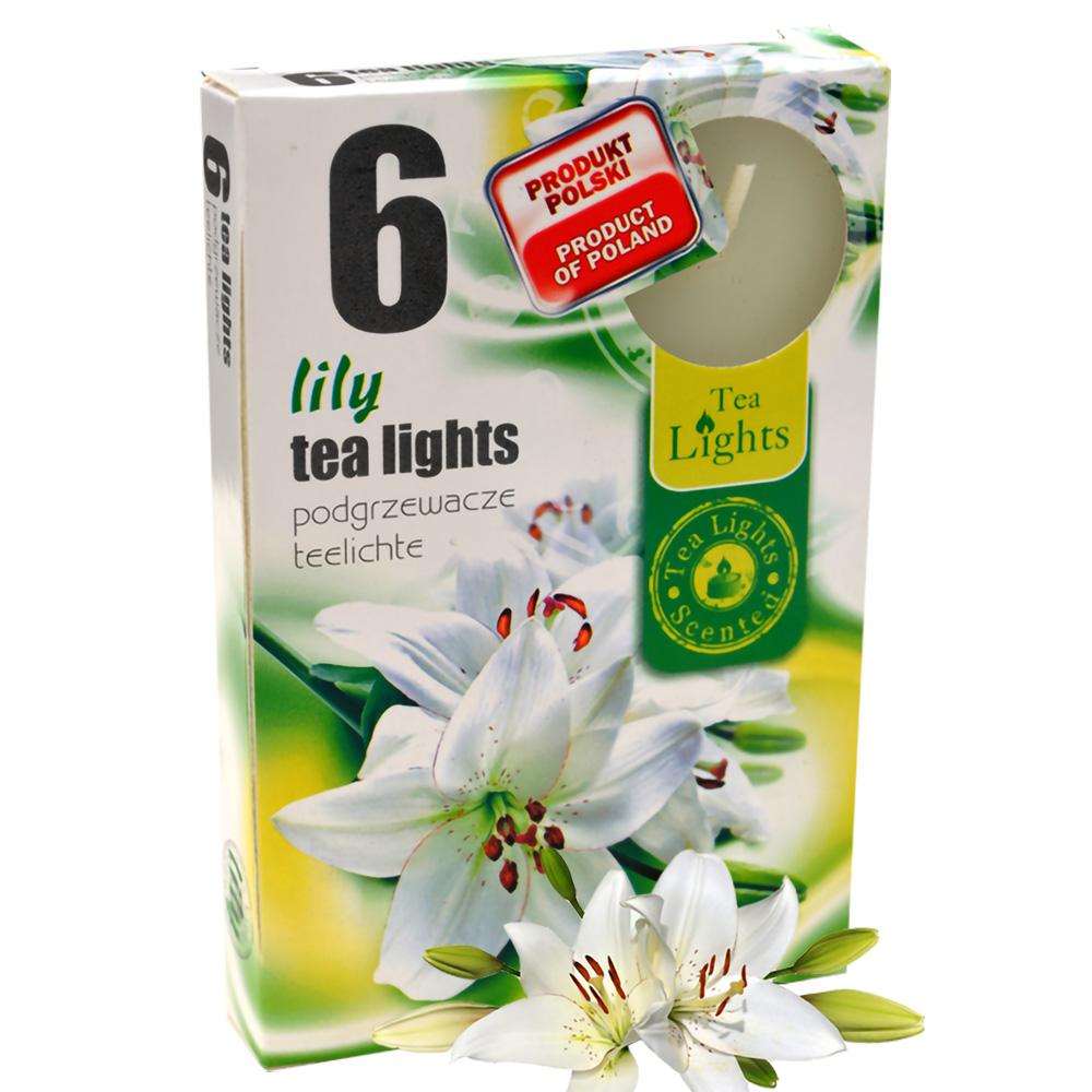 Hộp 6 nến thơm tinh dầu Tealight QQT026078 hương hoa ly 1