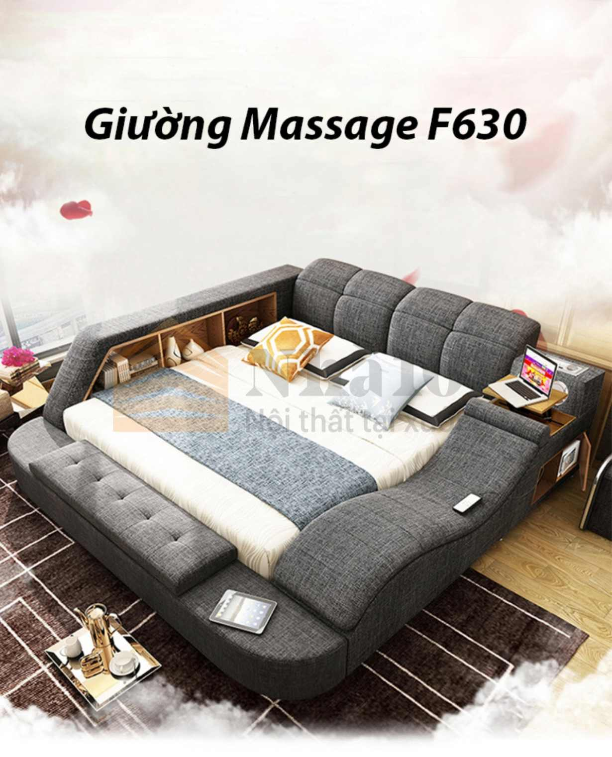 Giường Massage F630, giường massage, giường massage tiện nghi 1