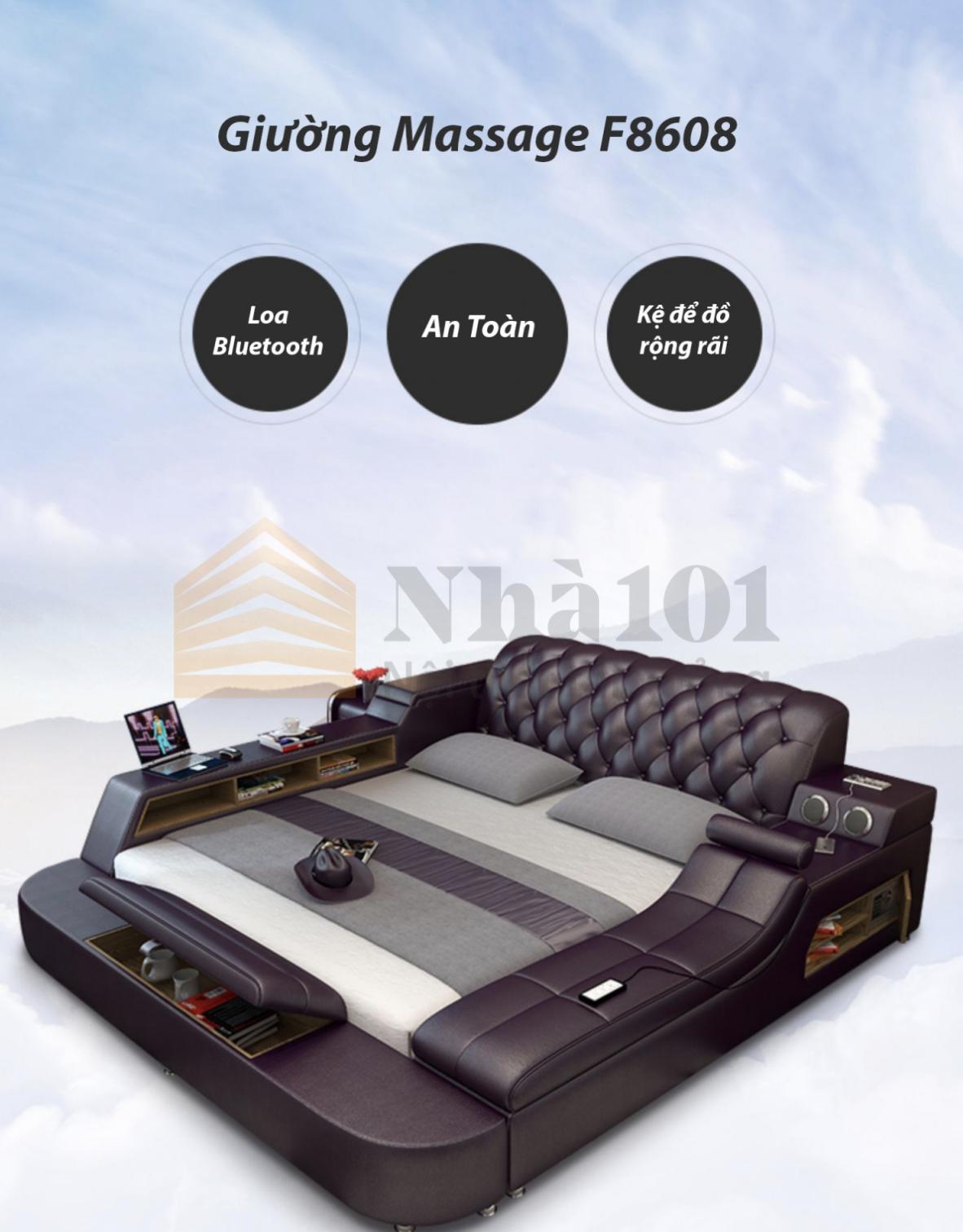 Giường Massage F8608, giường massage, giường tiện nghi 1