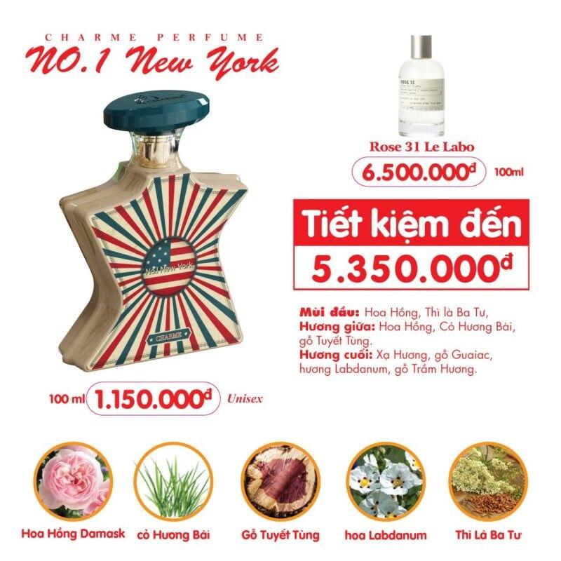 Nước Hoa Charme No1 New York Cuốn Hút Sang Trọng 100ml 2
