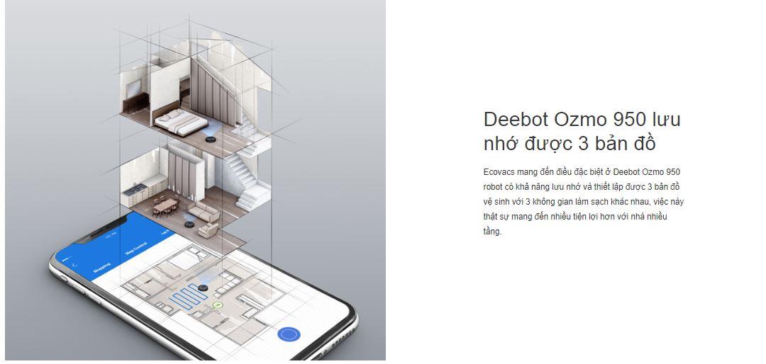 Robot hút bụi lau nhà Ecovacs Deebot ozmo 950 6