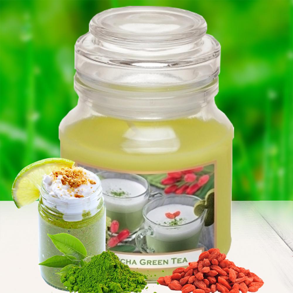 Hũ nến thơm tinh dầu Bartek 130g QT0462 matcha trà xanh 1