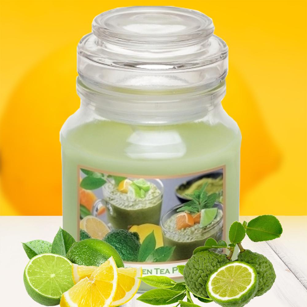Hũ nến thơm tinh dầu Bartek 130g QT0462 matcha trà xanh 2