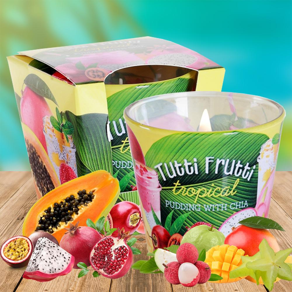 Ly nến thơm tinh dầu Bartek 115g QT1667 trái cây rừng 1