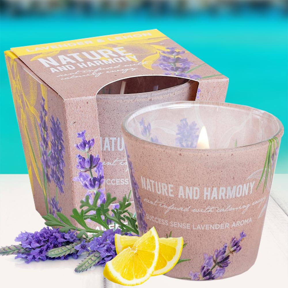 Ly nến thơm tinh dầu Bartek 115g QT1698 oải hương chanh 2