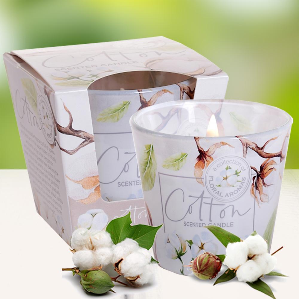 Ly nến thơm tinh dầu Bartek 115g QT5672 hương hoa bông Spa 2