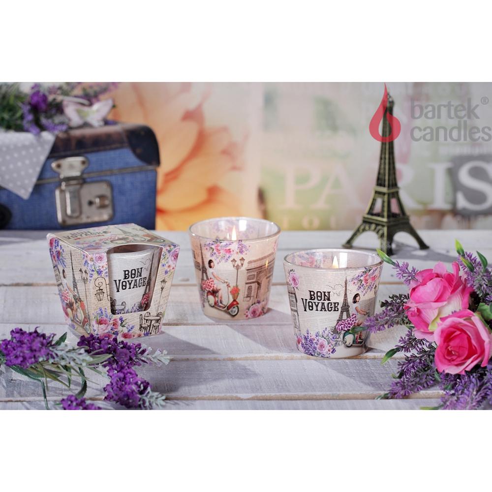 Ly nến thơm tinh dầu Bartek 115g QT1643 oải hương, hoa hồng 1