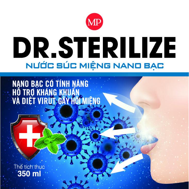Nước súc miệng nano Bạc Dr,Sterilize  350ml  chính hãng 1