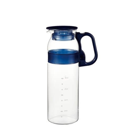 Bình nước thủy tinh Iwaki tay cầm màu xanh 1300 ml 1