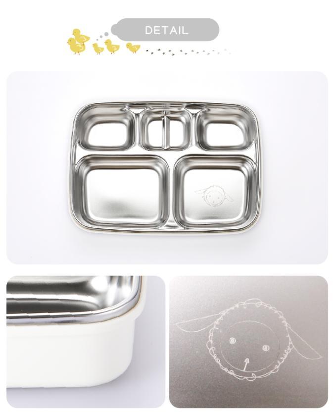 Khay đựng đồ ăn cách nhiệt nhiều ngăn cho bé Stenlock Hàn Quốc 6
