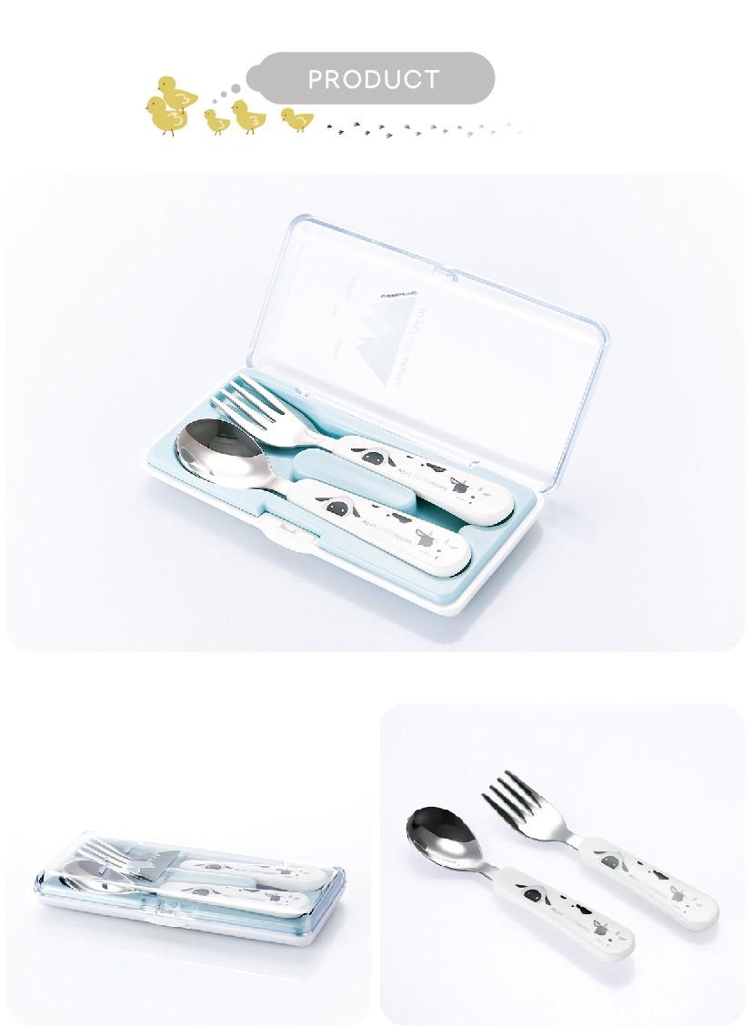 Bộ muỗng nĩa ăn dặm cho bé Stenlock cao cấp chính hãng Hàn Quốc 5