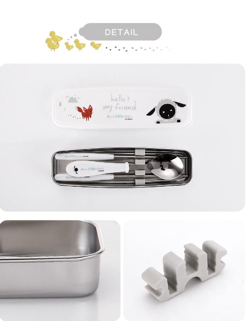 Bộ muỗng đũa tập ăn cho bé Stenlock chính hãng Hàn Quốc 7