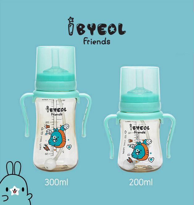 Bình ống hút tập uống Ibyeol Friends PPSU Hàn Quốc 3