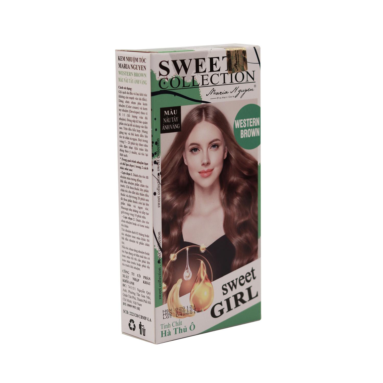 Kem nhuộm tóc Maria Nguyen Tinh chất Hà Thủ Ô Màu nâu tây ánh vàng 1