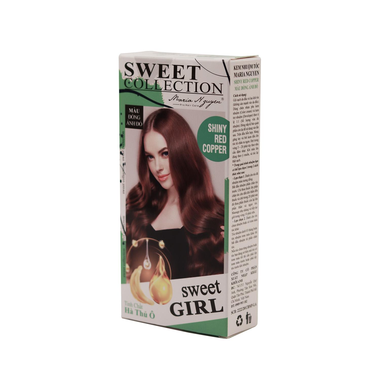 Kem nhuộm tóc Maria Nguyễn Tinh chất Hà Thủ Ô Màu đồng ánh đỏ 1