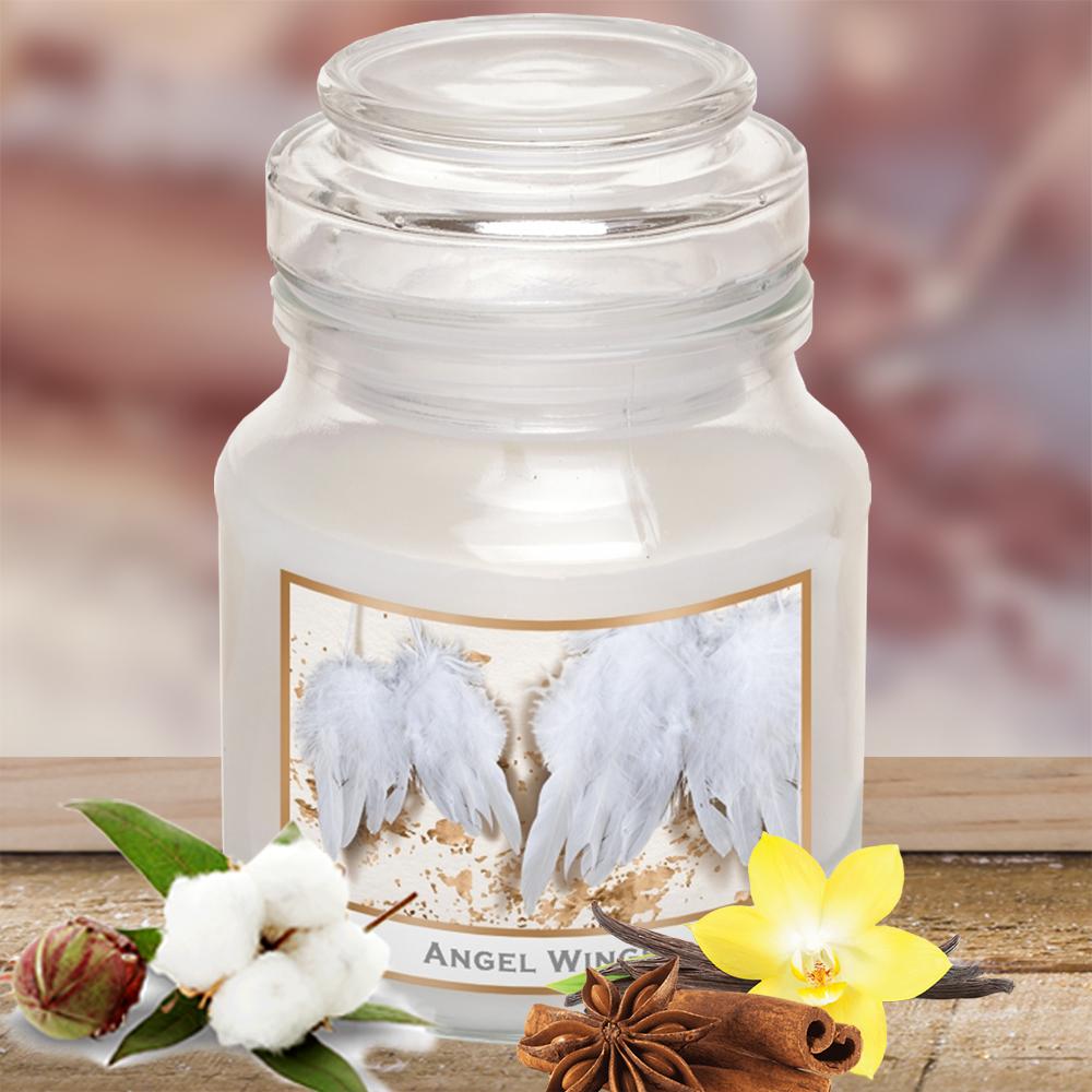 Hũ nến thơm tinh dầu Bartek 130g QT5412 quế, hoa bông 1