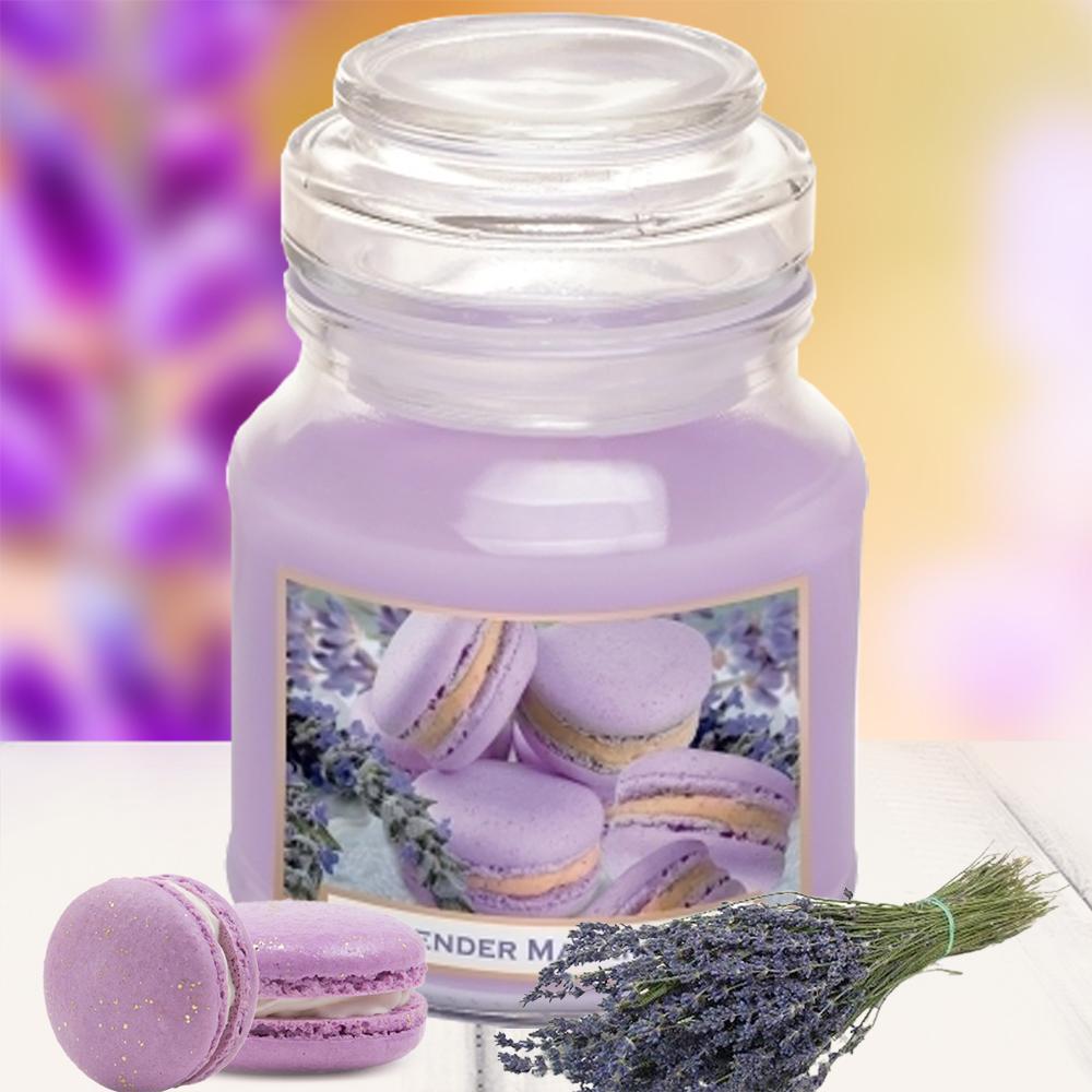 Hũ nến thơm tinh dầu Bartek 130g QT0448 hoa oải hương khô 1
