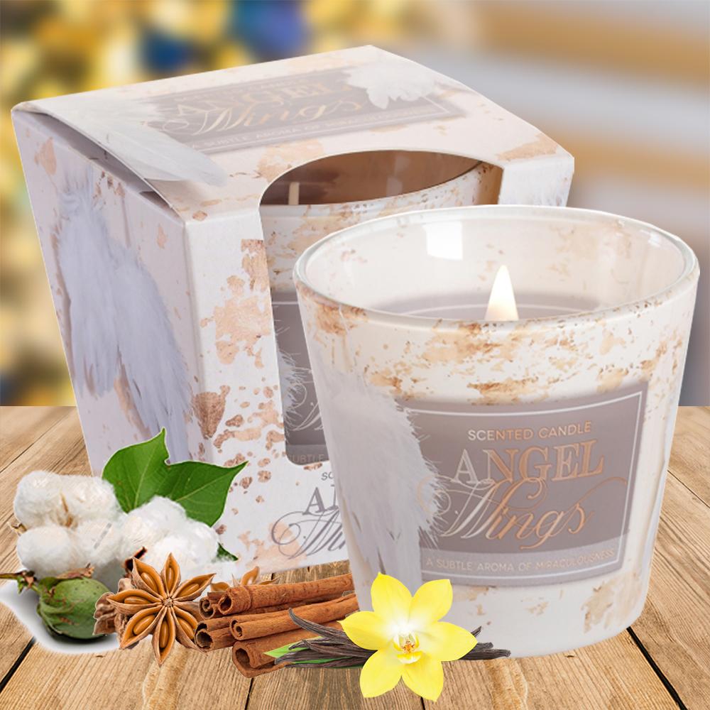 Ly nến thơm tinh dầu Bartek 115g QT3432 hoa bông, quế 1