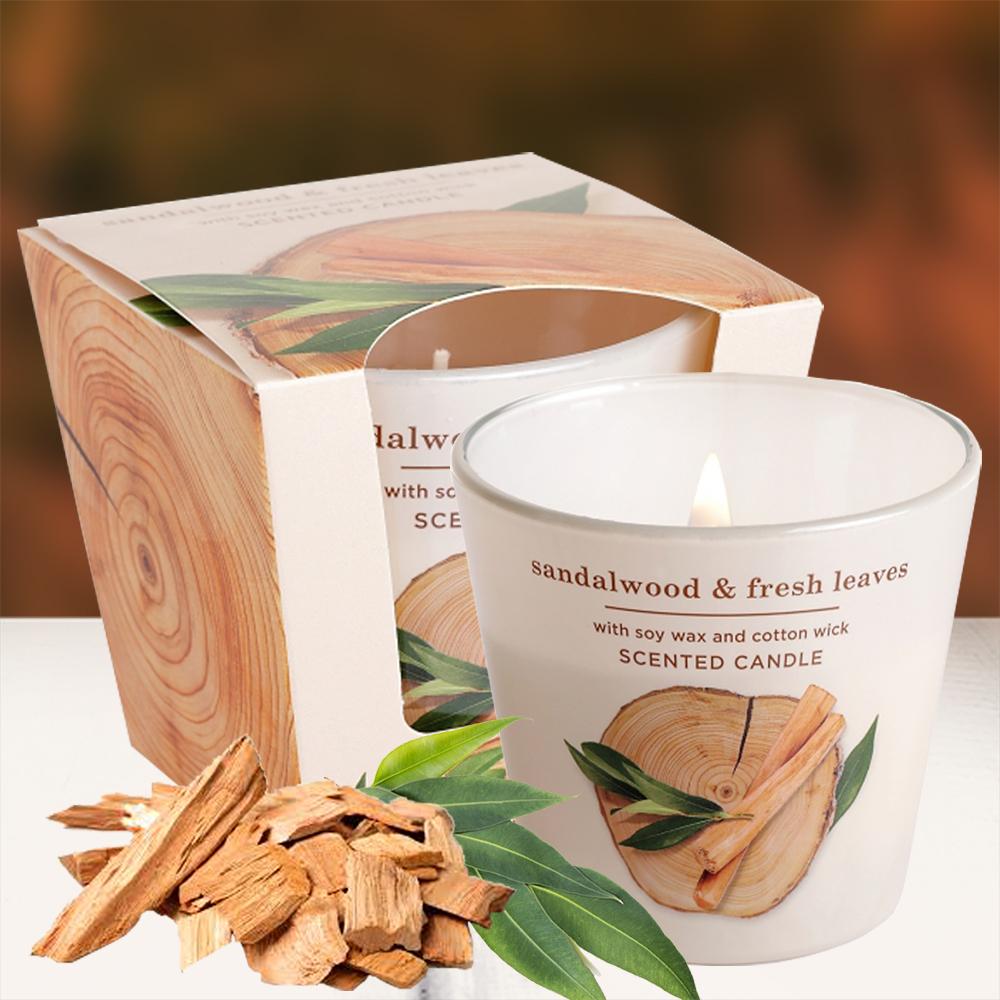 Ly nến thơm tinh dầu Bartek 115g QT9663 gỗ đàn hương 2