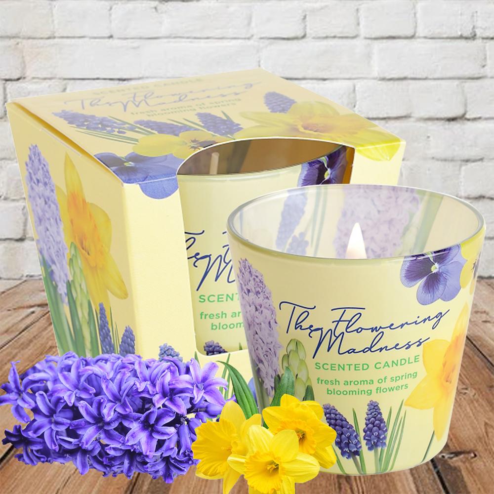 Ly nến thơm tinh dầu Bartek 115g QT9687 hoa dạ lan hương 1