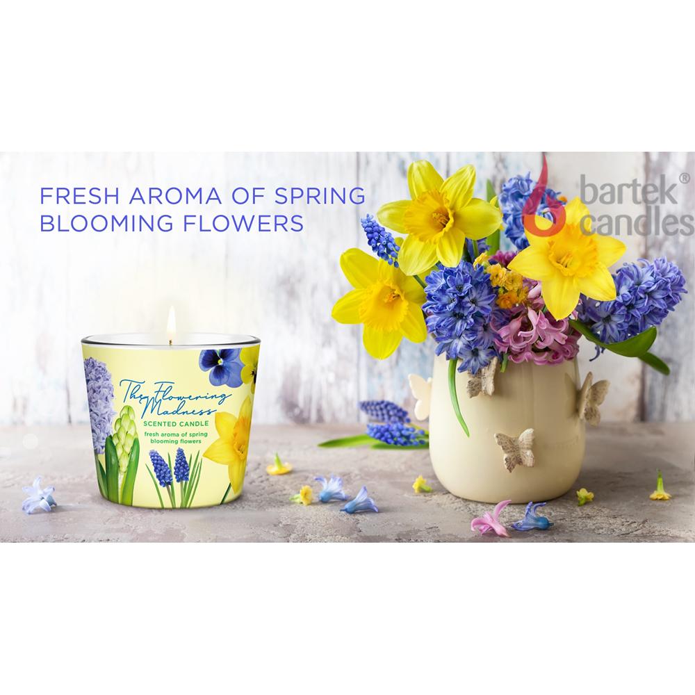 Ly nến thơm tinh dầu Bartek 115g QT9687 hoa dạ lan hương 2