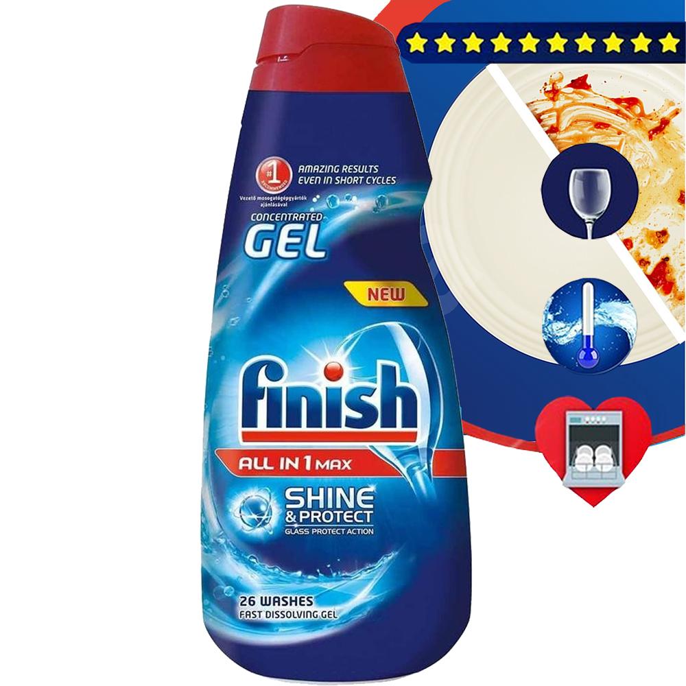 Gel rửa chén Finish All in 1 max Shine and Protect 650ml QT2824 1