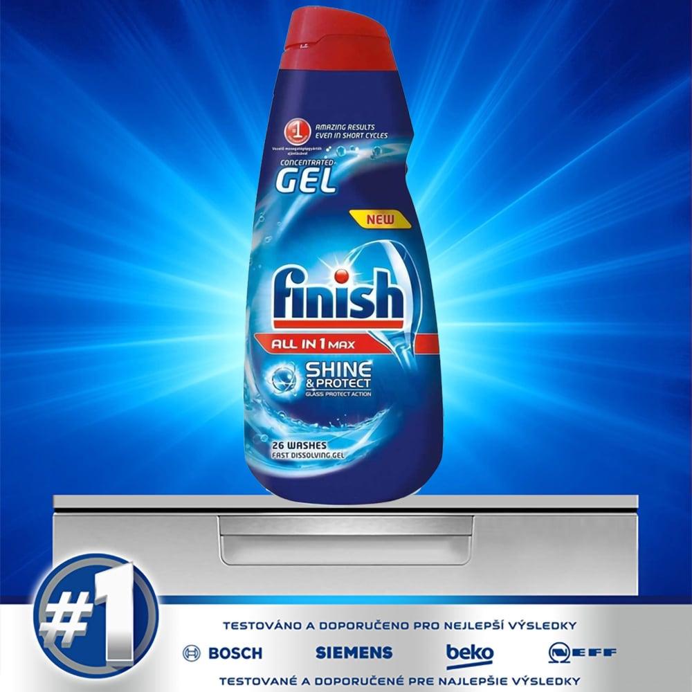 Gel rửa chén Finish All in 1 max Shine and Protect 650ml QT2824 2