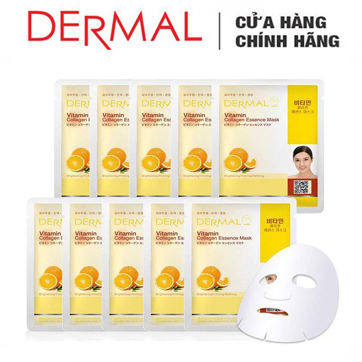 Mặt Nạ Dermal Tinh Chất Vitamin Làm Sáng Da 10 Miếng 1