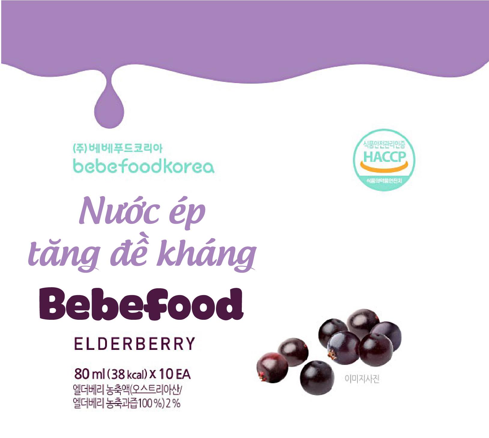 Nước ép tăng đề kháng cho bé quả Elderberry Bebefood Hàn Quốc 1