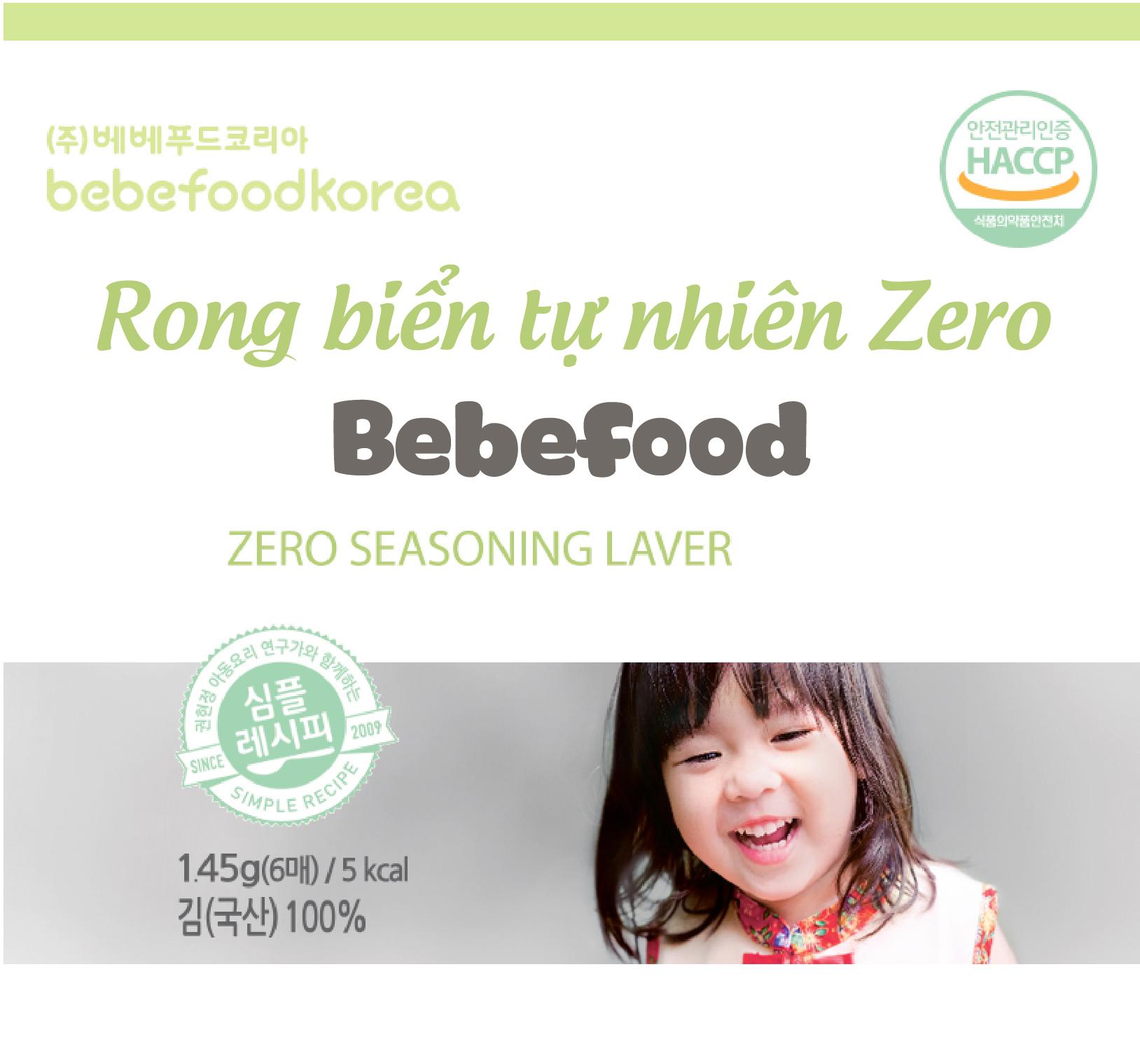 Rong biển hữu cơ ăn liền ít muối Bebefood Hàn Quốc 1