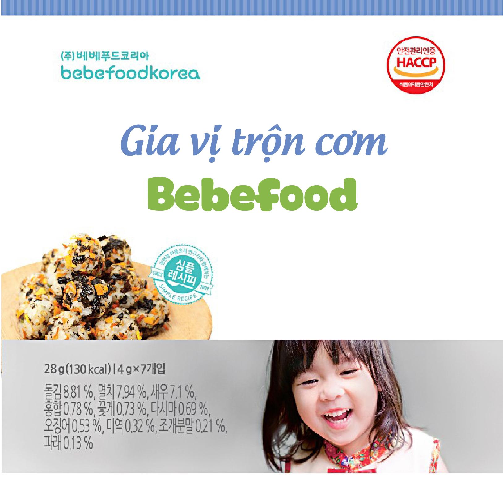 Gia vị rắc cơm cho bé Bebefood chính hãng Hàn Quốc 2