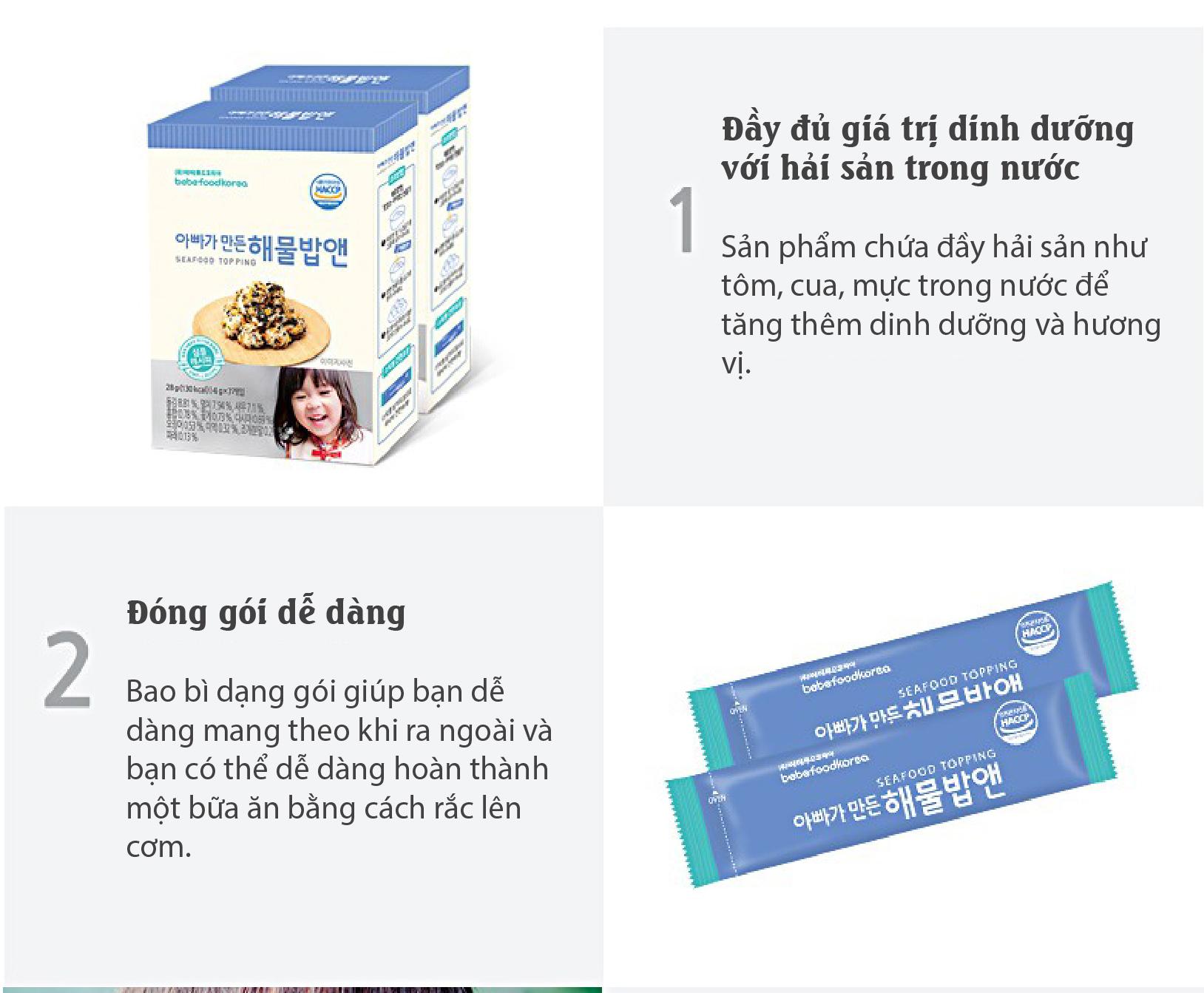 Gia vị rắc cơm cho bé Bebefood chính hãng Hàn Quốc 3