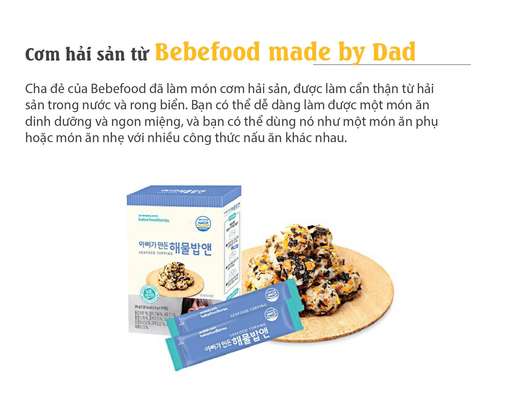 Gia vị rắc cơm cho bé Bebefood chính hãng Hàn Quốc 5