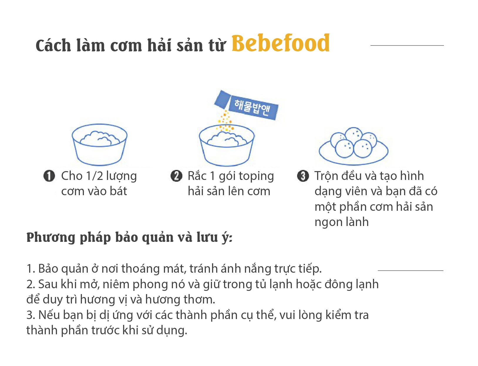 Gia vị rắc cơm cho bé Bebefood chính hãng Hàn Quốc 8