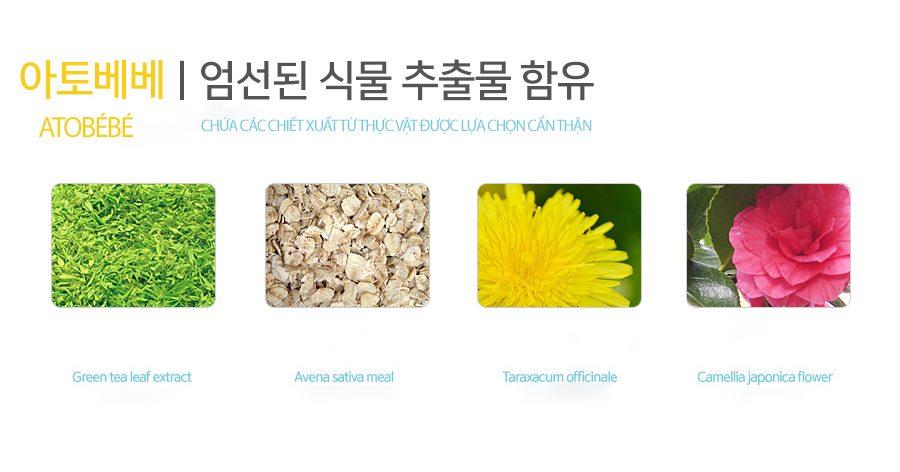 Sữa tắm gội cho bé Atobébé Baby Kids Wash Hàn Quốc 6