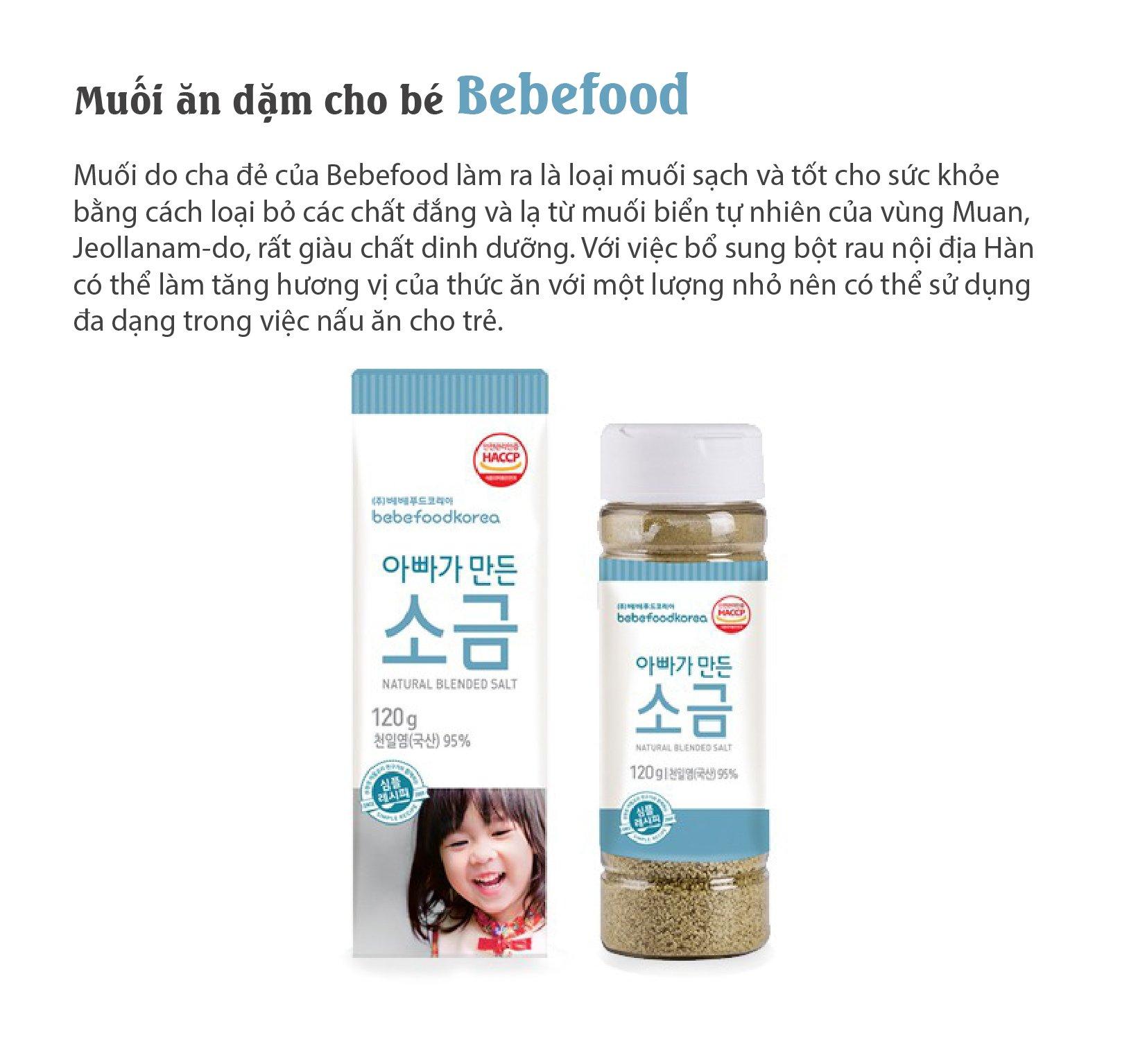 Muối ăn dặm cho bé Bebefood chính hãng Hàn Quốc 4