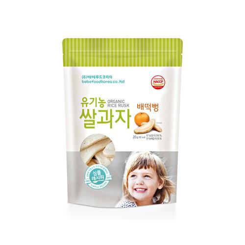 Bánh gạo ăn dặm hữu cơ cho bé Bebefood Hàn Quốc 4 vị 6