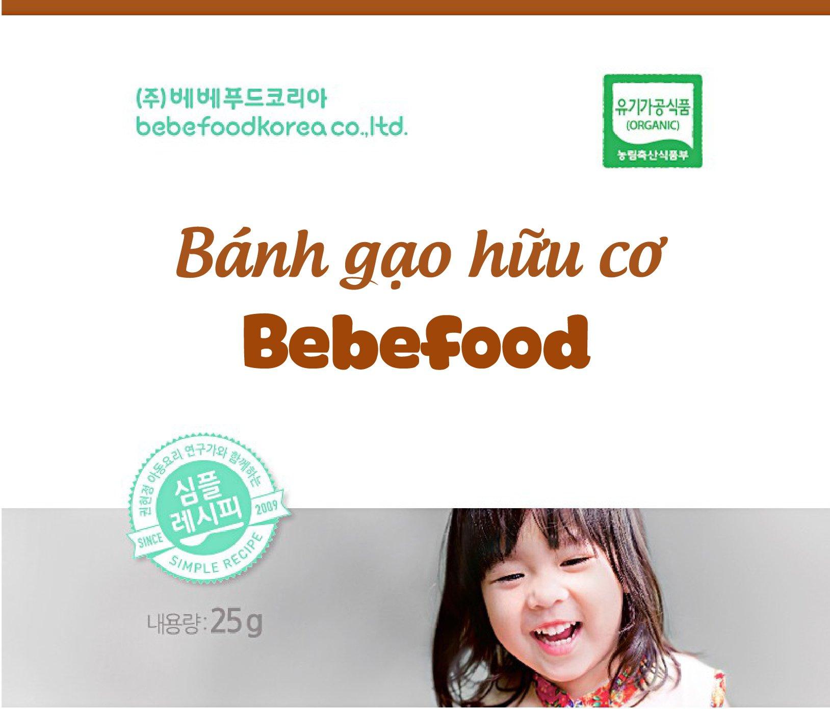 Bánh gạo ăn dặm hữu cơ Bebefood Hàn Quốc 1